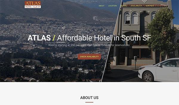 SFO Atlas Hotel Website